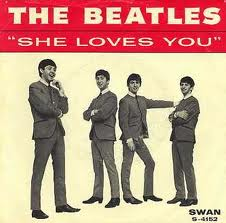 """Beatles """"She Loves You"""" single picture sleeve"""
